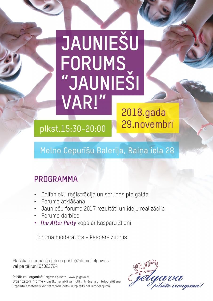 """Jauniešu forums """"Jaunieši Var!"""""""