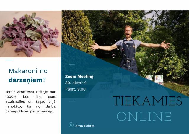 Tiešsaistes tikšanās ar uzņēmēju Arno Polīti