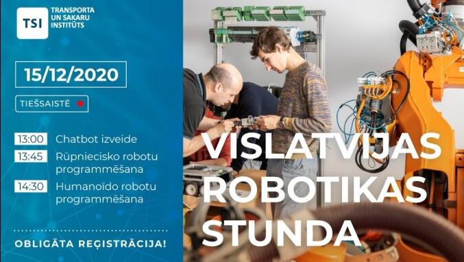 Vislatvijas robotikas stunda tiešsaistē