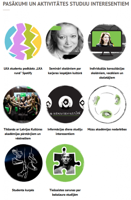 Latvijas Kultūras akadēmija piedāvā