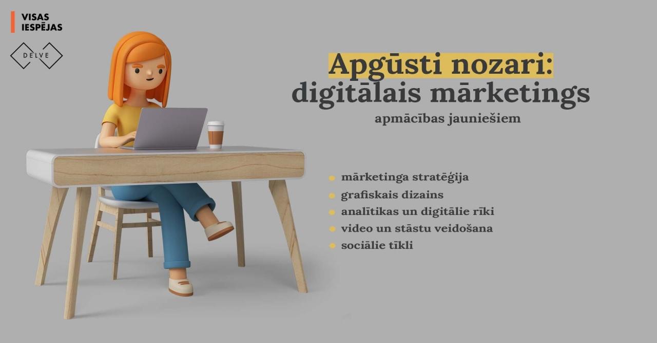 Apgūsti nozari: digitālais mārketings