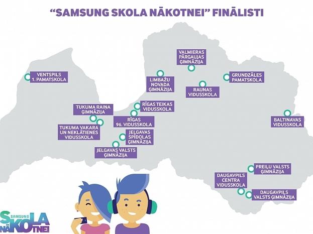 """Samsung Skola nākotnei """"finālistu paziņošana"""""""