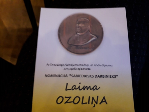 Sveicam Laimu Ozoliņu ar Draudzīgā aicinājuma medaļas saņemšanu!