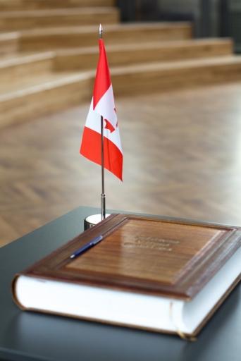 Kanādas vēstnieka tikšanās ar 12. klašu skolēniem