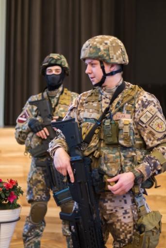 Tikšanās ar Zemessardzes 52. kajnieku bataljona pārstāvjiem