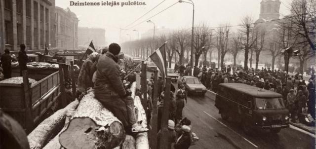 Barikāžu 25 gadu atceres pasākumi Jelgavas Valsts ģimnāzijā
