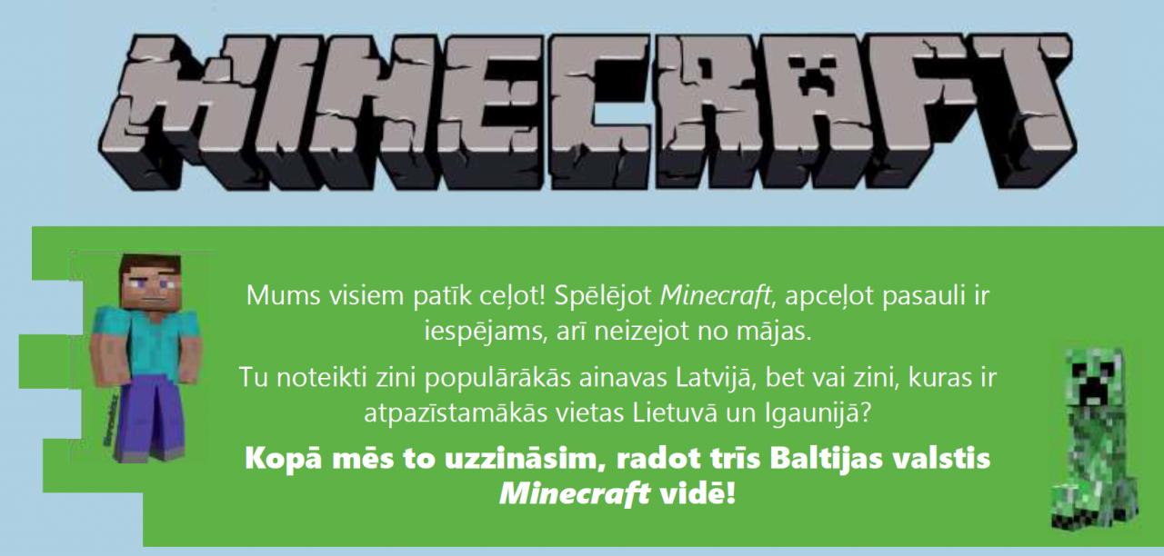 Piedalies Minecraft sacensībās, pierādi sevi un  saņem balvā planšetdatoru!