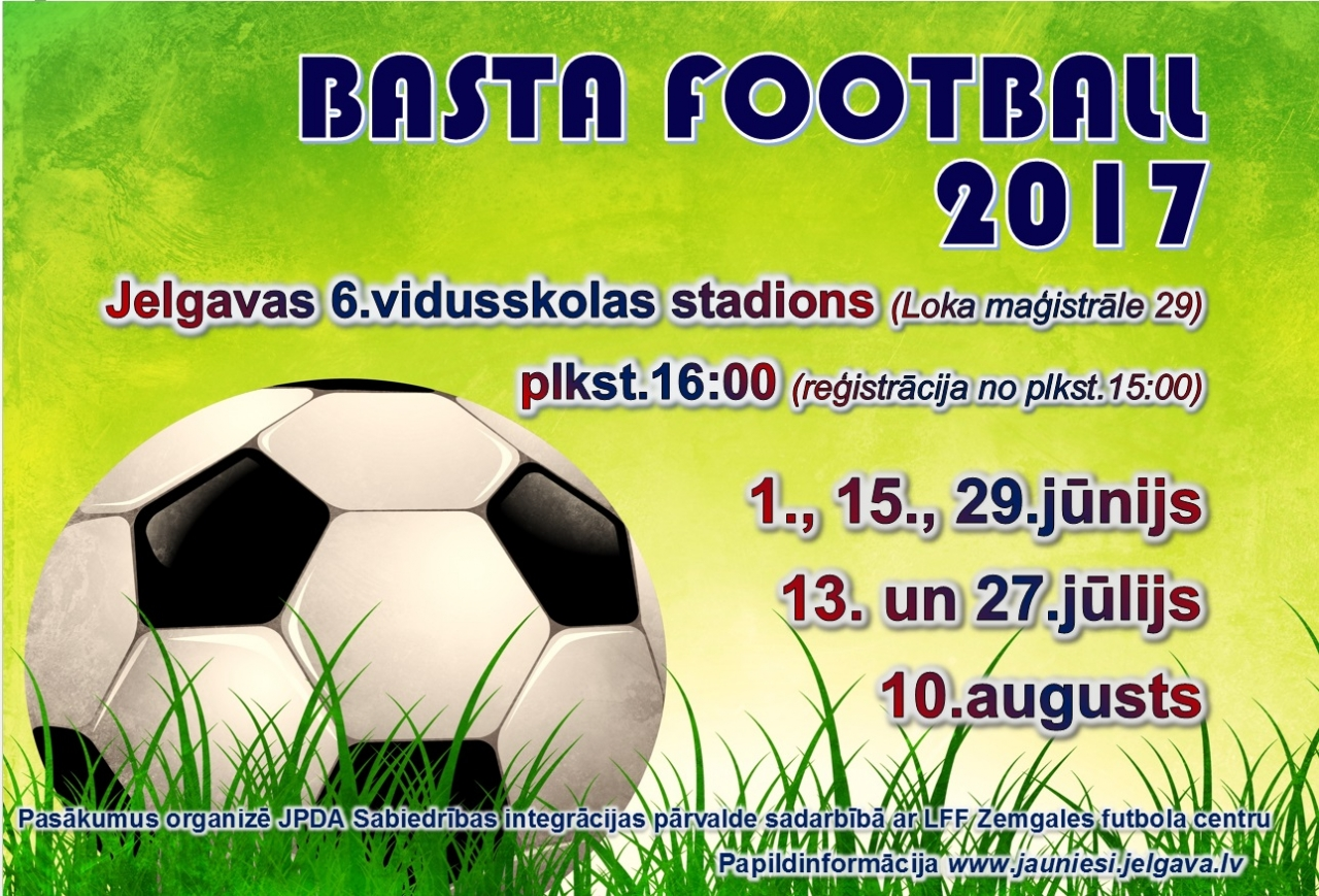 Nāc spēlēt futbolu!