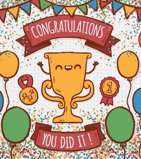 Apsveicam!