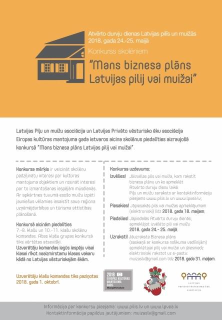 Mans biznesa plāns Latvijas pilij vai muižai