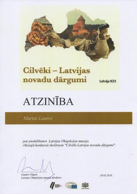 """""""Cilvēki – Latvijas novadu dārgumi"""""""