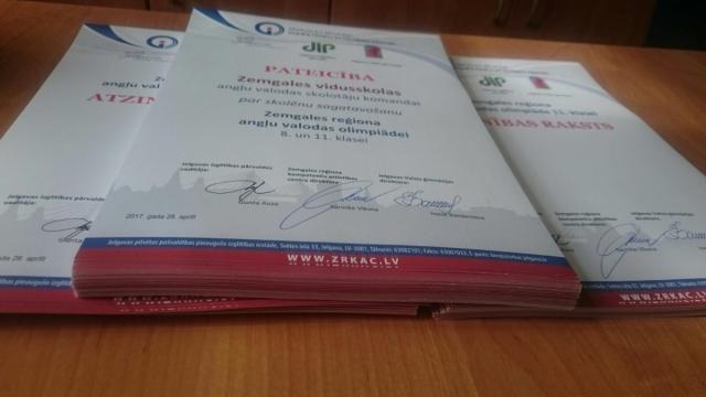 Reģionālā angļu valodas olimpiāde Jelgavas Valsts ģimnāzijā