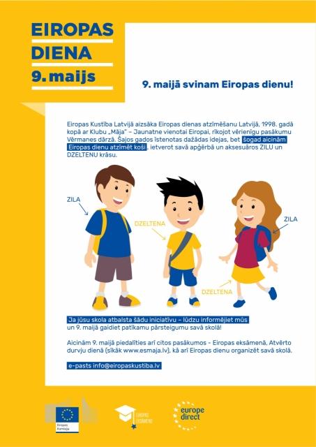 Ar savu apģērbu piedalies Eiropas dienā!