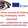 "Erasmus+ projekta ""ICT IN ACTIVE LEARNING AND TEACHING-INSPIRING, CHALLENGING, TERRIFIC"" sanāksme Jelgavas Valsts ģimnāzijā"