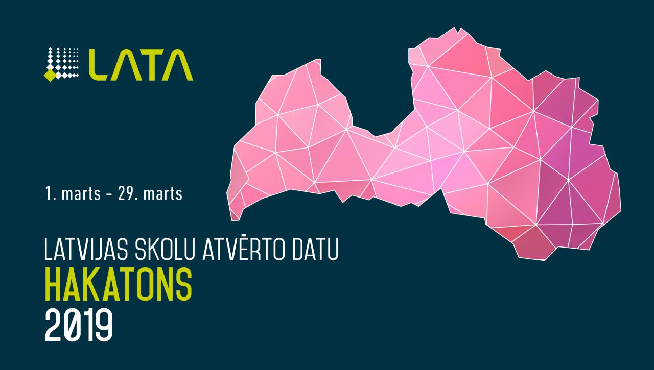 Latvijas skolu atvērto datu hakatons 2019