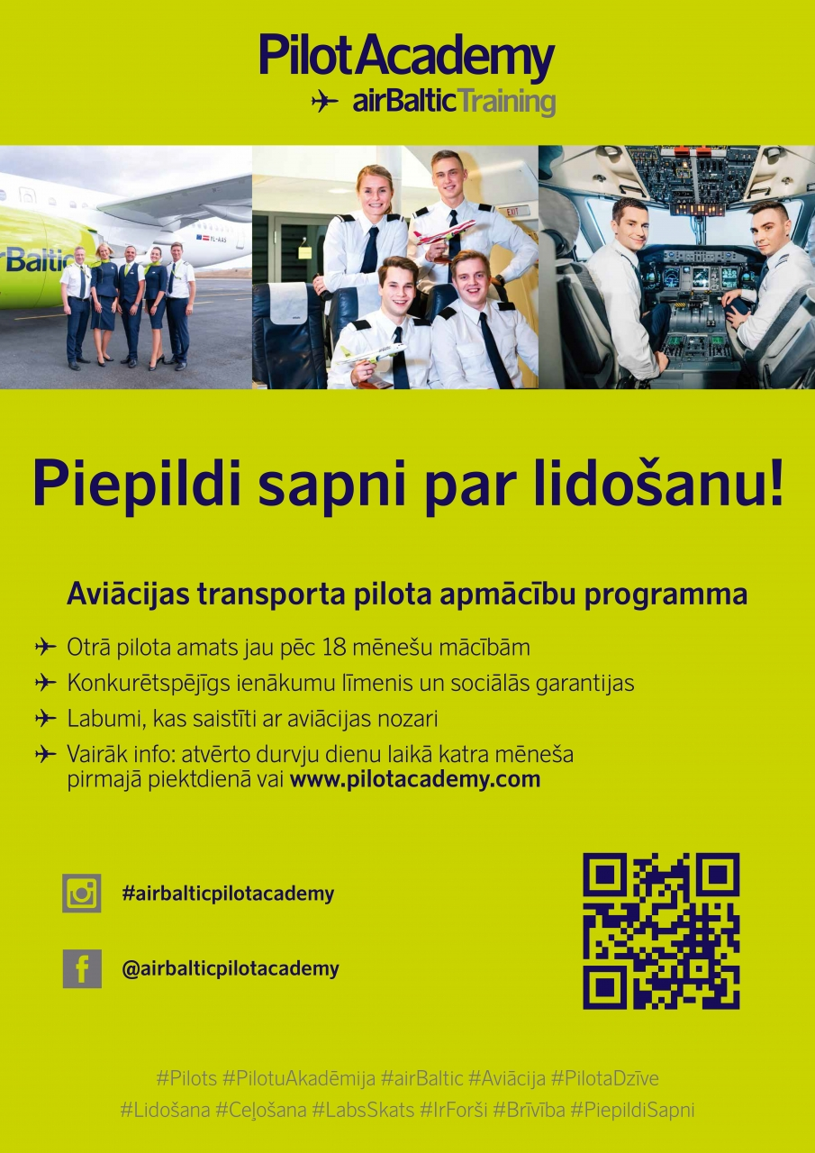 airBaltic Training Pilot Academy