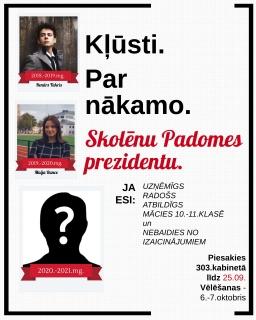Kļūsti par JVĢ skolēnu padomes prezidentu!