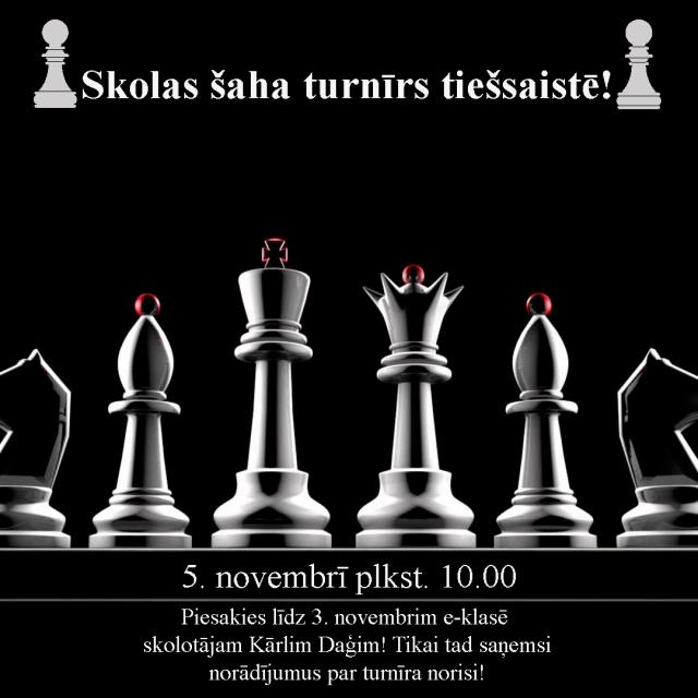 Piedalies skolas šaha turnīrā!