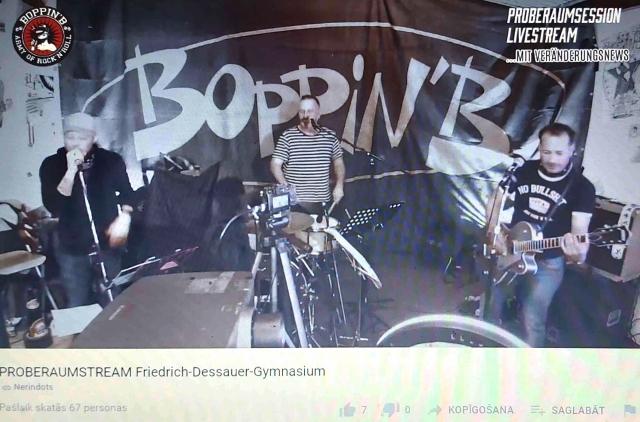 JVĢ un Friedrich - Dessauer Gymnasium skolēnu tikšanās ar grupu Boppin'B