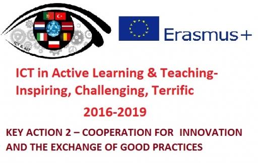 """Eiropas Savienības izglītības, mācību, jaunatnes un sporta programmas Erasmus+ projekts  """"ICT in Active Learning & Teaching-Inspiring, Challenging, Terrific (ICT & ALT)"""" """"IKT aktīvā mācīšanās un mācīšanas procesā- iedvesmojoši, izaicinoši, aizraujoši"""""""