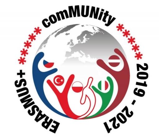 """Eiropas Savienības izglītības, mācību, jaunatnes un sporta programmas Erasmus+ projekts """" coMUNity"""" (projekta numurs 2019-1-TR01-KA229-075482_3)"""